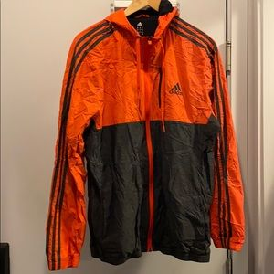 Men's adidas windbreaker size L with hood